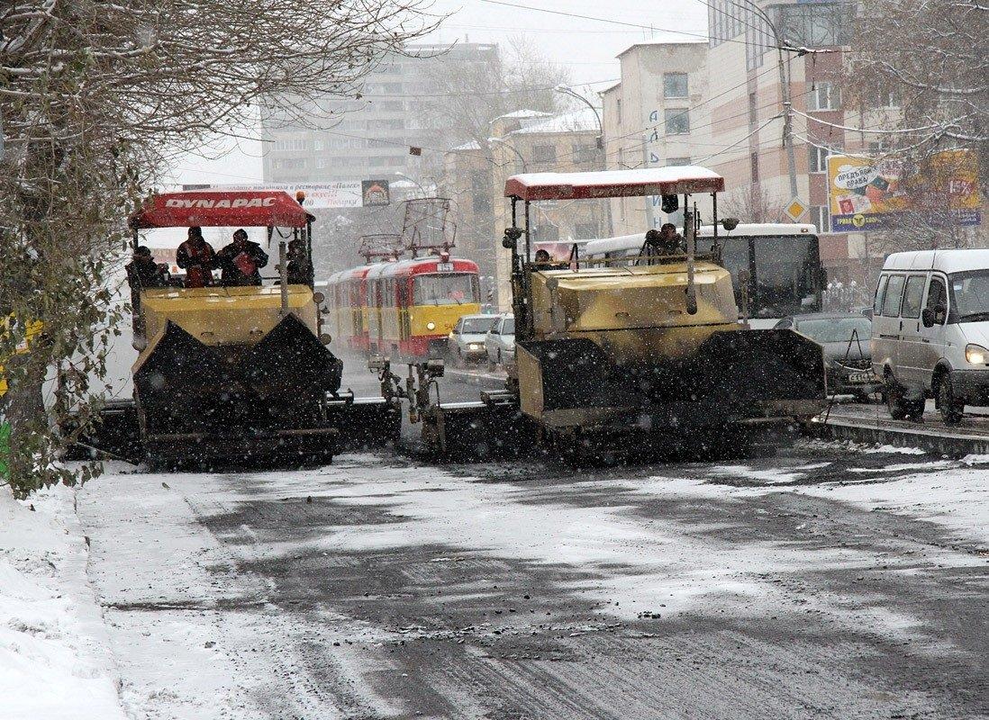 строительство дорог зимой